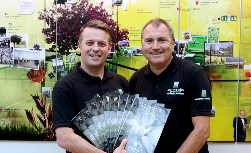 Johnsons of Whixley's Garden Centre Sales launches new catalogue