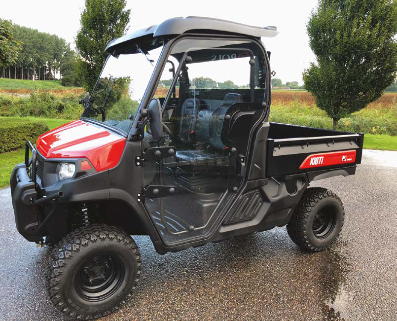 Enhanced cover for Kioti Mechron K9 UTVs
