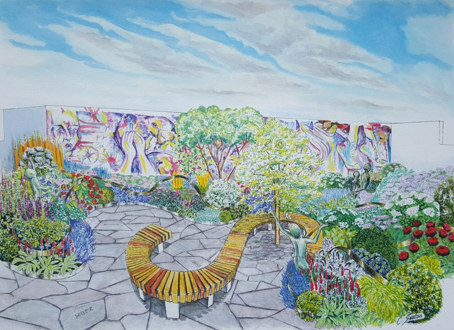 Childrens cancer chairity 'laced with hope' for RHS Chelsea