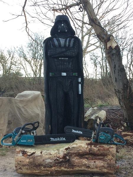 Makita chainsaws create Darth Vader