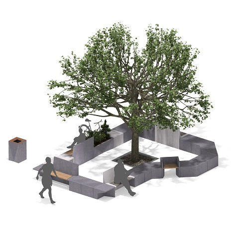 Marshalls shows new collection of Brutalist inspired landscape furniture