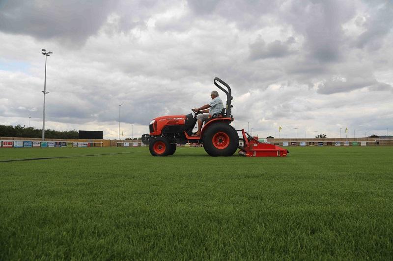 Kubota pitch perfect for Melksham Town FC
