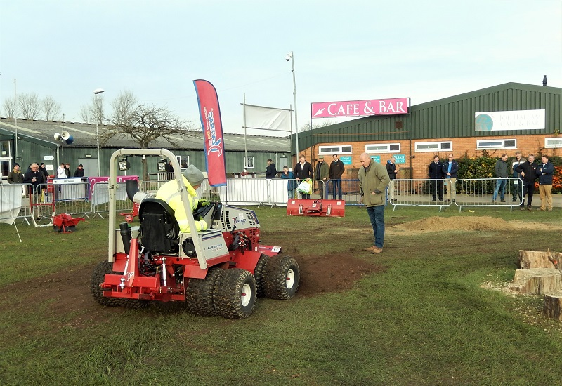 Fentons of Bourne and Price Turfcare win Best Stand award at Midlands Machinery Show