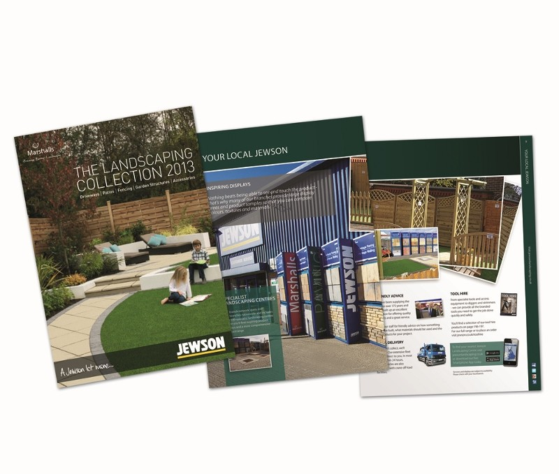 New landscaping brochure from Jewson