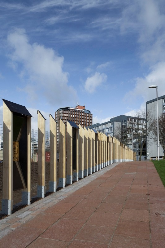 World-leading modified wood used in construction of historic city centre fence