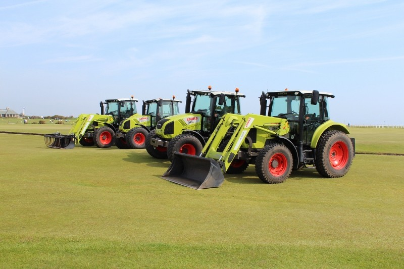 CLAAS on course at the home of golf
