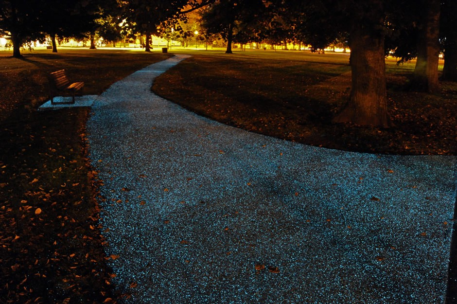 World's first UV-powered pathway