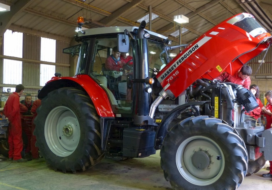 New MF 7616 tractor helps college train engineers