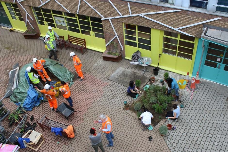 BBMV creates Urban Garden for homeless charity
