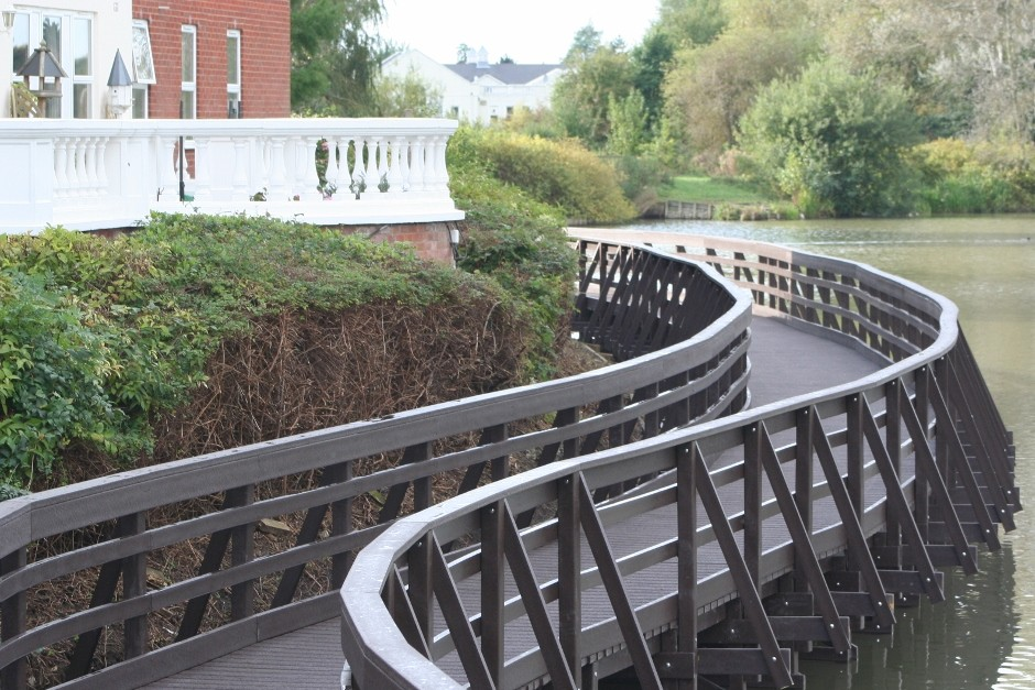 Versatile Centriforce recycled plastic profiles solve walkway headache