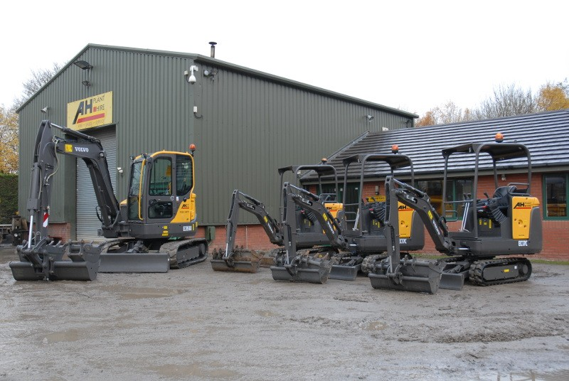 AH Plant Hire adds more Volvo compact excavators to its fleet