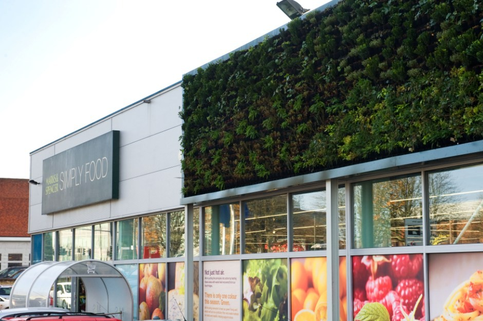 Scotscape living walls installed at four M&S Simply Food stores