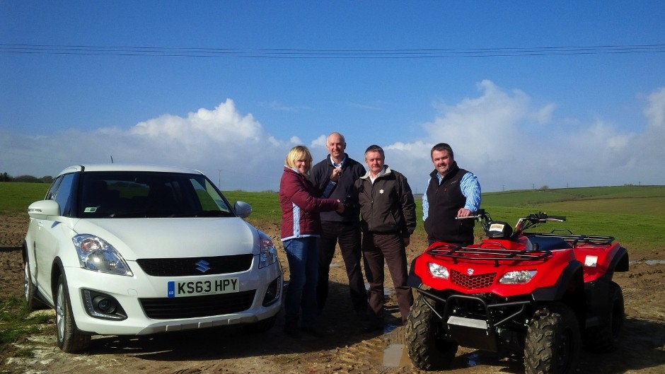 Worker of the Year awarded Suzuki KingQuad 400