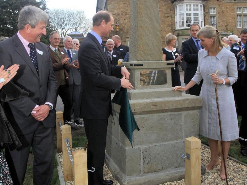 Prince Edward unveils The Pennant Sandstone Obelisk