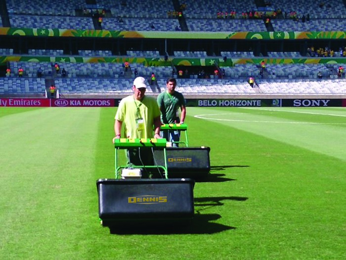 Dennis Helps Brazil Prepare for  2014 FIFA World Cup