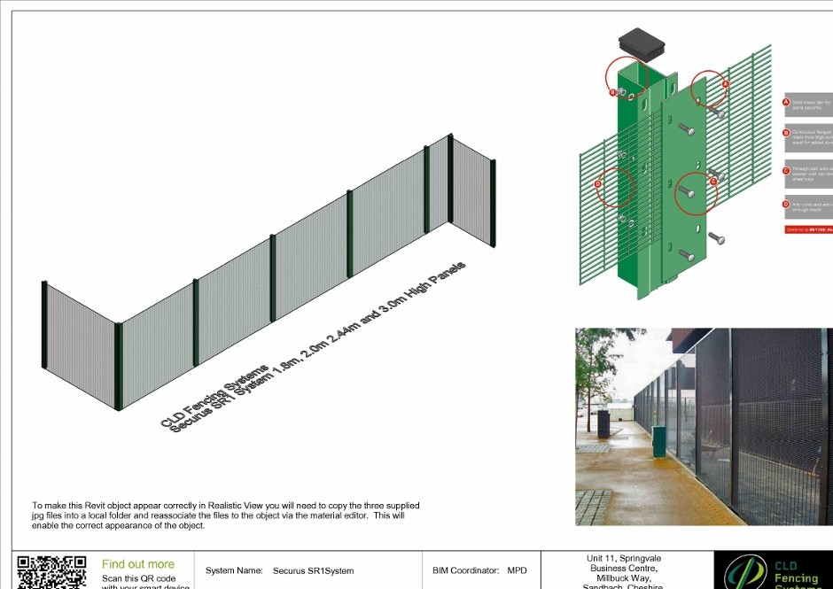 CLD Fencing Systems develops customised BIM objects
