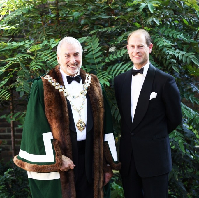 Stephen Bernhard installed as the Master of The Worshipful Company of Gardeners