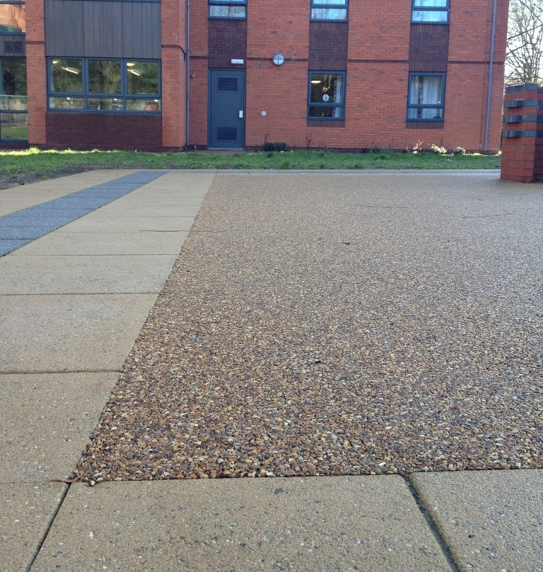 RonaDeck resin bound surfacing creates a steady path for students
