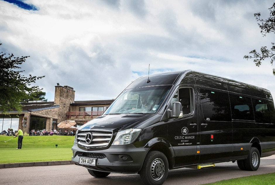 Mercedes-Benz Traveliners check in at Celtic Manor