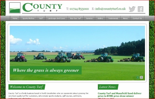 County Turf launches brand new website
