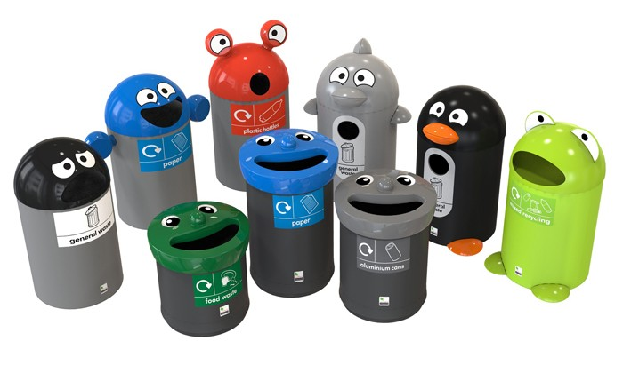 Bin buddies engage children to recycle