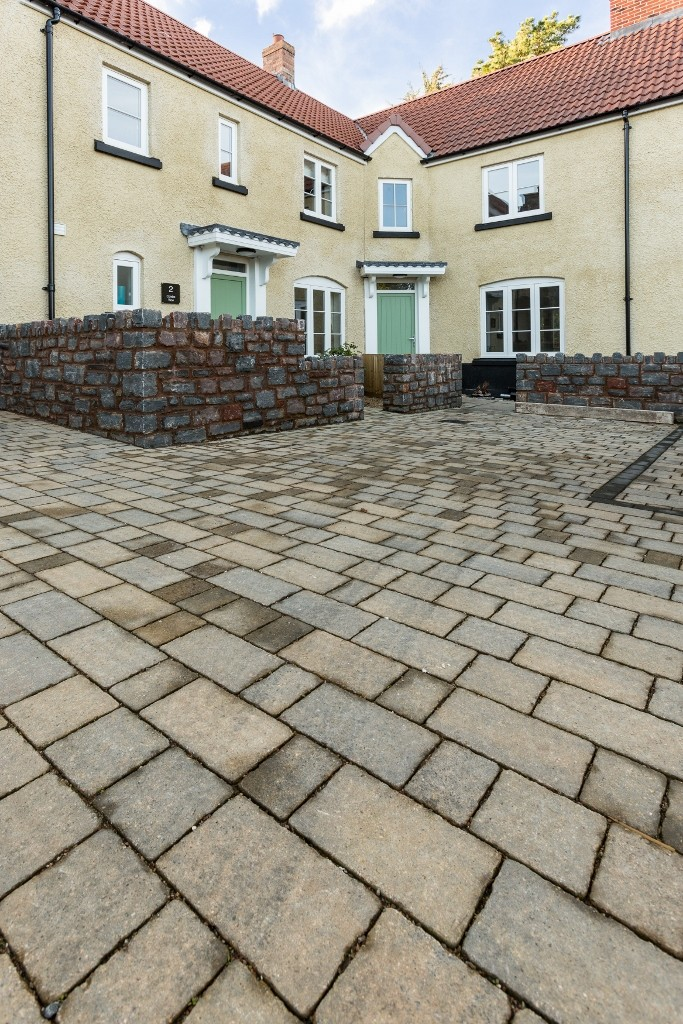 Hanson Formpave's permeable paving  used in village development