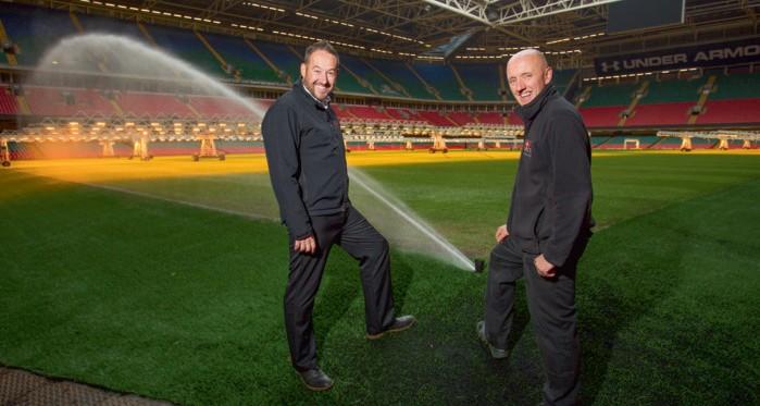 Irrigation at Millennium Stadium's new pitch gets the Toro treatment