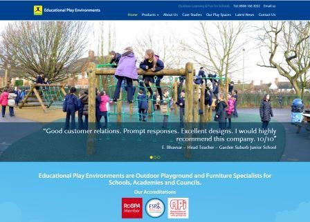 Educational Play Environments launches new website