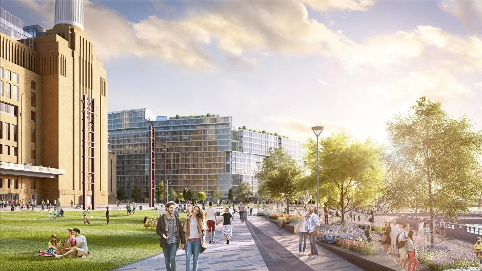 Battersea Power Station public park is unveiled