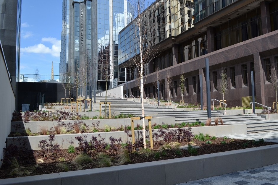St Vincent Plaza in Glasgow launches public realm