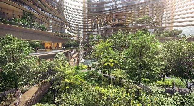 Landscape designers create Marina One's elevated public garden