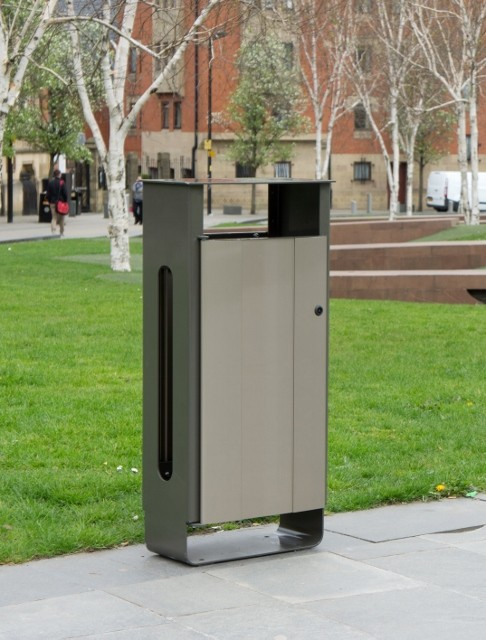 Elegant Electra litter bin combines strength and style