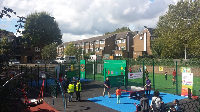 New family inclusive sports area for Fulham estate