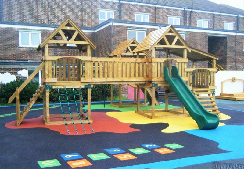 Children thrilled after play equipment choice becomes reality