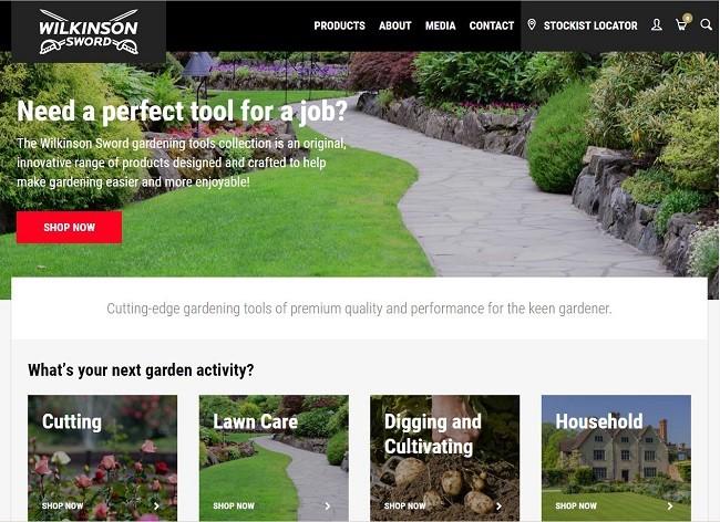 Wilkinson Sword launch responsive website