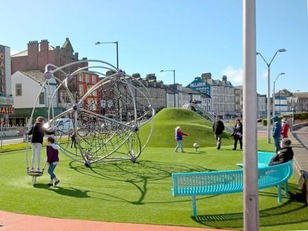 Morecambe Central Promenade's new play area
