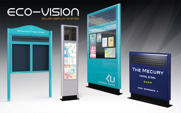 UK manufacturer unveils innovative solar powered displays