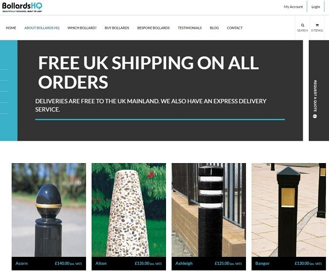 Brand new bollards website launches