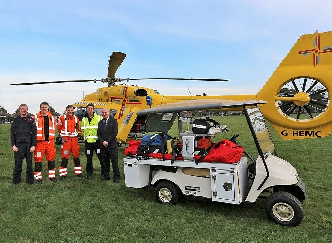New electric patient carrier for air ambulance transfers