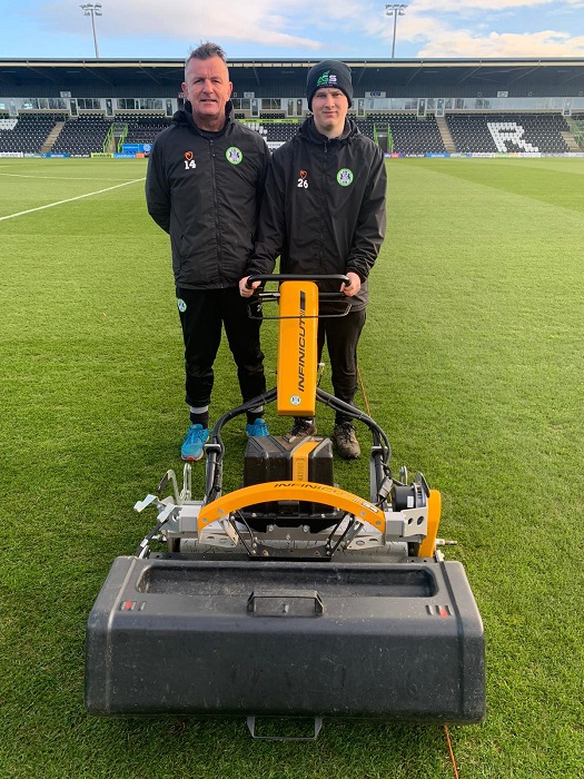 Forest Green Rovers extend partnership with INFINICUT in the drive to eliminate petrol