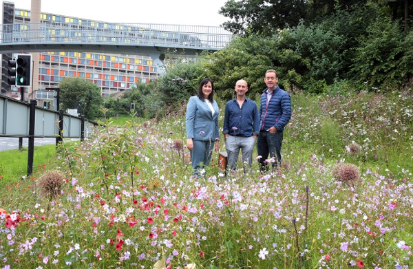 Park Square Roundabout Gets £11k Donation to Complete Floral Makeover