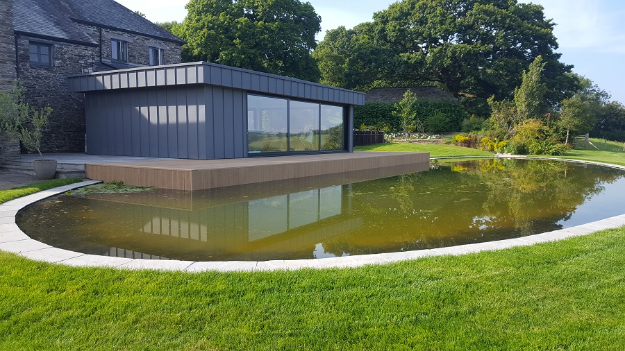 FLP Pond Liner adds tranquil touch to farmhouse