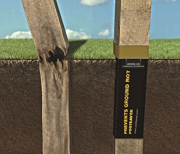Helping new timber fence posts last longer