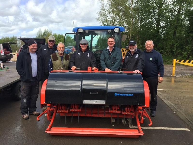 Volunteer grounds team praised for using Wiedenmann XF