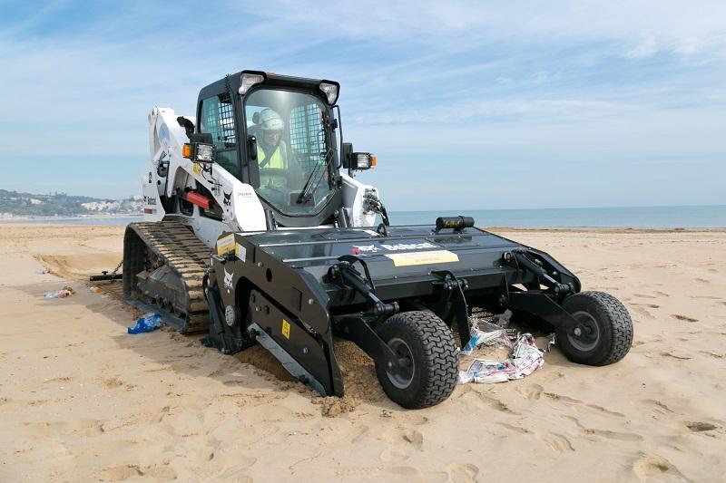 Bobcat Sand Cleaner combats plastic peril