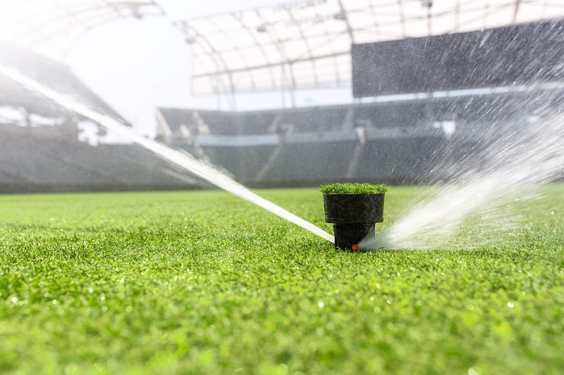 The I-80 advanced gear-driven rotor sprinkler for sports turf