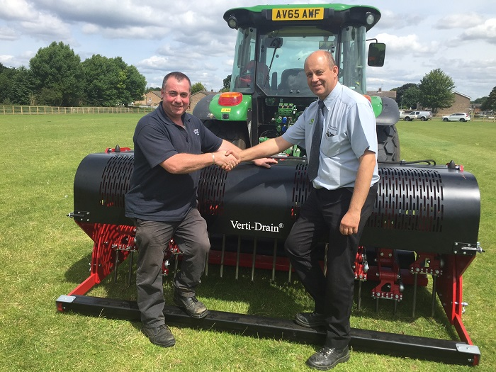 Council make good use of their Verti-Drain