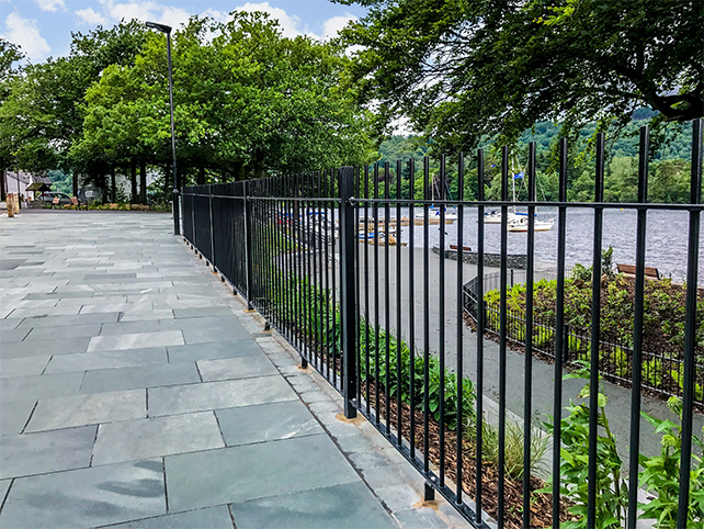 Bow top metal railings installed within Lake District National Park