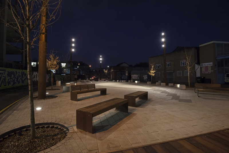 East London space transformed with creative hard landscaping