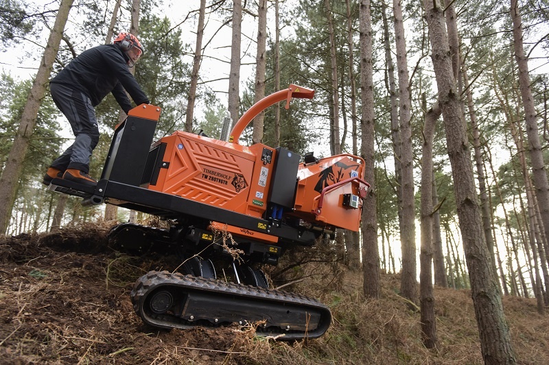 Timberwolf launches new variable tracked chipper at the Arb Show